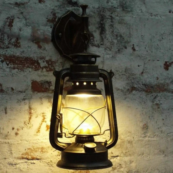 Buy Retro Wall Lamp Vintage Glass European Kerosene Lamps Beside Light for Bar Coffee Shop Bathroom Home Led Lights Model F with Litecoins with Free Shipping on Gipsybee.com