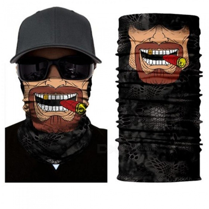 Buy Seamless Skull Skeleton Joker Clown Balaclava Tube Neck Face Mask Scarf Motorcycle Bicycle Hunting Outdoor Bandana Headband HR040972 with Litecoins with Free Shipping on Gipsybee.com