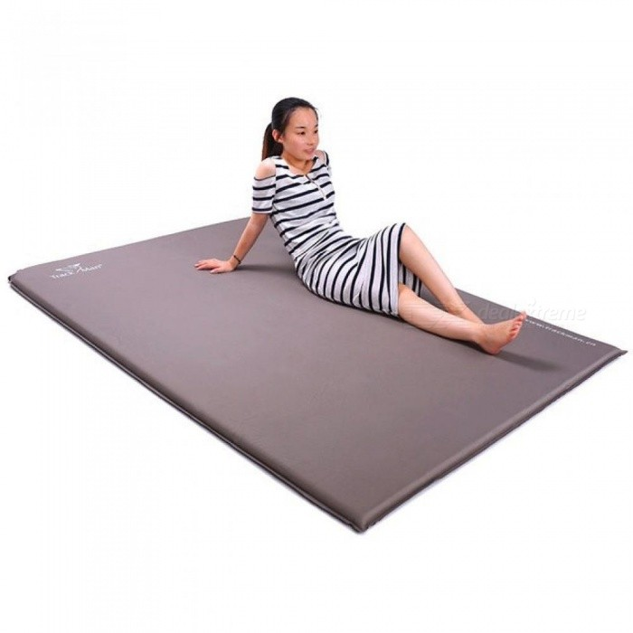 Set of 2 Inflatable Outdoor Mat Self Inflating Camping Sleeping Bed Pad Mattress
