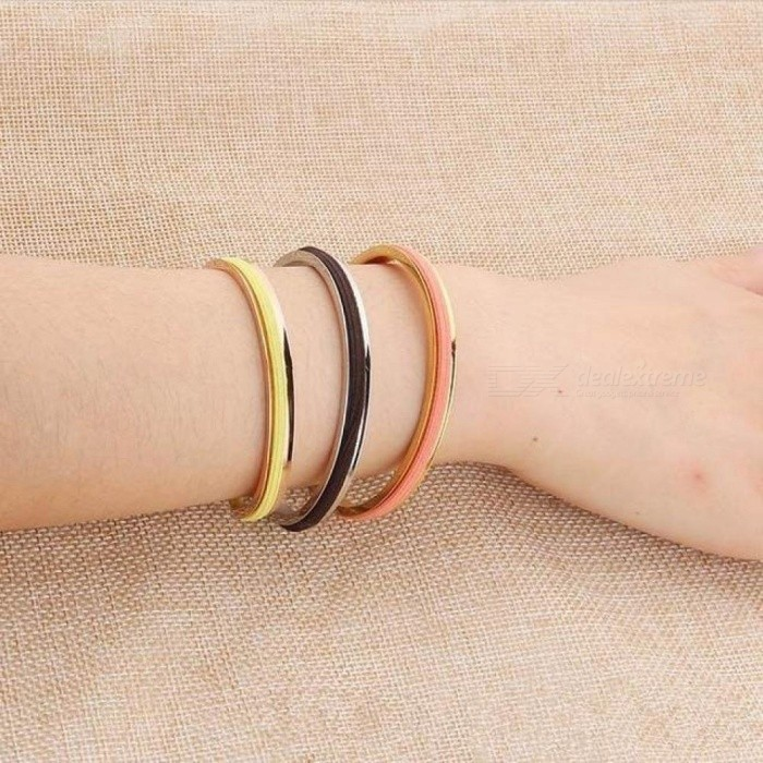 Buy Trendy Hair Tie Bracelet in 3 Color with Black Hair Rope Fashion Daily Wear Open Cuff Bracelet Jewellery Rhodium Imitation with Litecoins with Free Shipping on Gipsybee.com