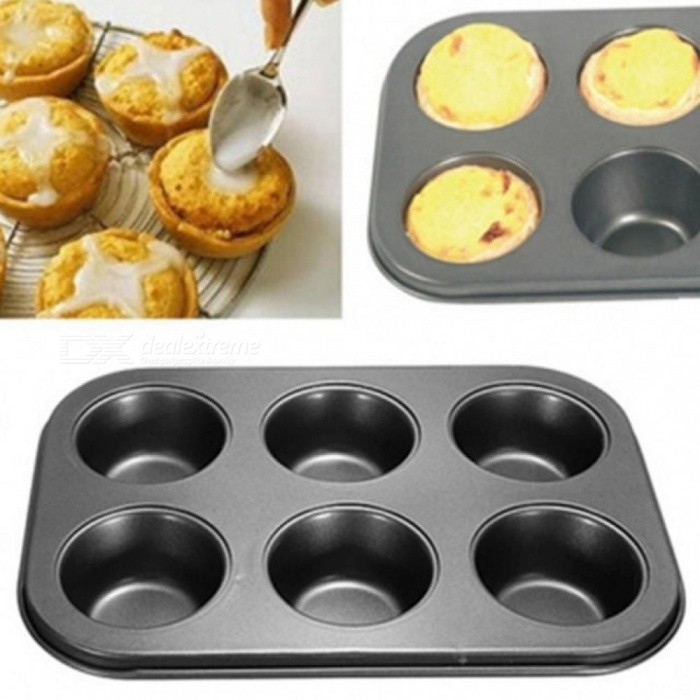 Buy Practical 6 Cups DIY Baking Tools Non-Stick Steel Cupcake Mold Egg Tart Baking Tray Dish Muffin Cake Mould Biscuit Pan Bakeware  6 Cups DIY Baking Tools with Litecoins with Free Shipping on Gipsybee.com