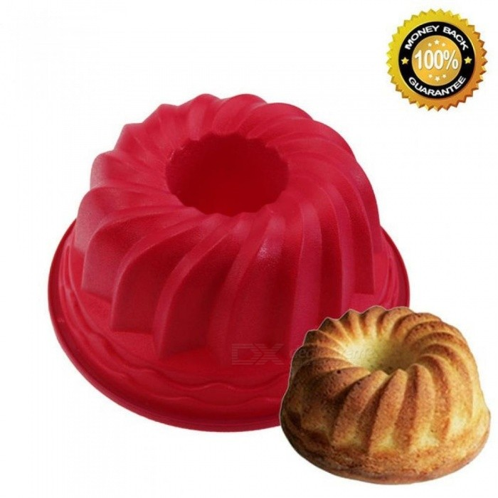 Buy 1pcs 9 Inch Spiral Silicone Bundt Pan Large Silicone Baking Pan Cake Mold Bread Baking Forms Baking Trays Round Loaf Pan Random with Litecoins with Free Shipping on Gipsybee.com
