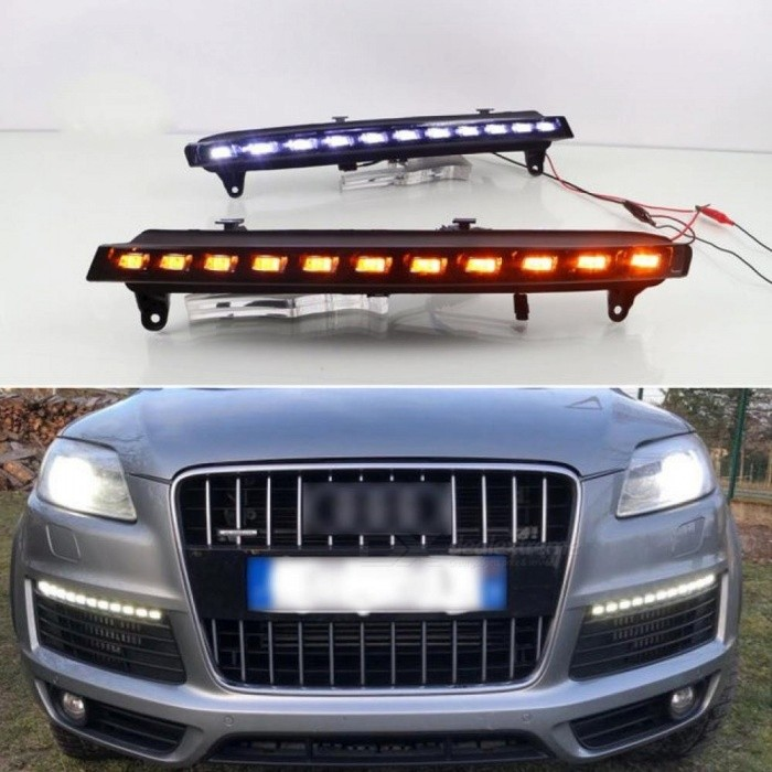 Buy For Audi Q7 2006 2007 2008 2009 Yellow Turning Signal Light Car DRL Waterproof 12V LED Daytime Running Light Fog Lamp Bulb 1 Piece with Litecoins with Free Shipping on Gipsybee.com