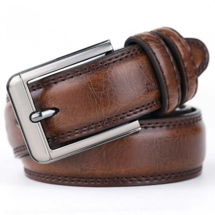 Buy Men Cow Genuine Leather Luxury Strap Male Belts for Men Round Classic Centos 3.5cm Laser Buckle from 110cm to 125cm 125cm/A Black with Litecoins with Free Shipping on Gipsybee.com