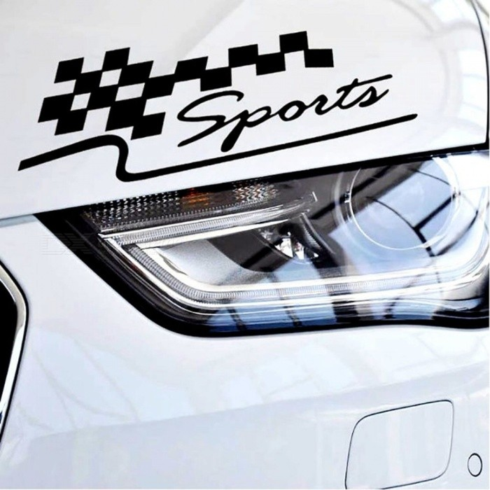 Buy 1 Pcs Decal Racing Sports Flag Set Car Stickers Auto Motorcycle Reflective Vinyl Sticker Car Styling  White with Litecoins with Free Shipping on Gipsybee.com