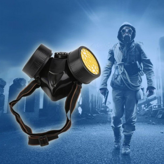 Black-Gas-Mask-Emergency-Survival-Safety-Respiratory-Gas-Mask-Anti-Dust-Paint-Respirator-Mask-with-2-Dual-Protection-Filter-Black