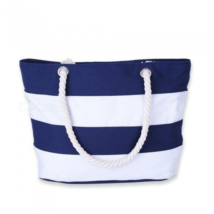 Women Beach Canvas Bag Fashion Color Stripes Printing Handbags Ladies Large Shoulder Bag Totes Casual Bolsa Shopping Bags