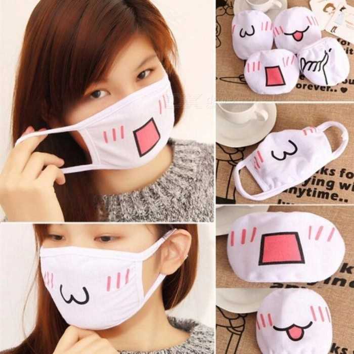 1pc Kawaii Anti Dust Mask Kpop Cotton Mouth Mask Cute Anime Cartoon Mouth Muffle Face Mask Emotiction Masque Kpop Masks 4