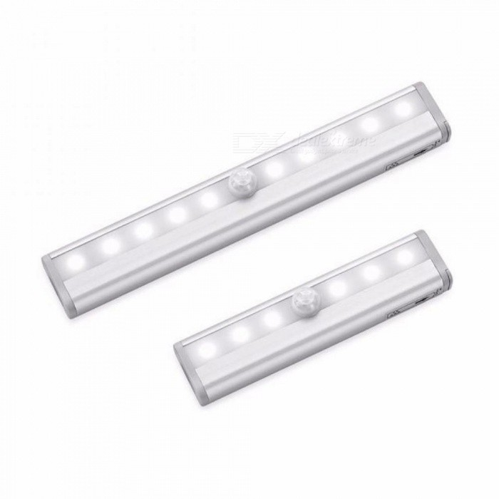 Buy Portable LED Under Cabinet Light Motion Sensor Closet Wall Lamp Rigid Strip Bar Light Kitchen Wardrobe Emergency Night Lighting 10 LEDs/Warm White with Litecoins with Free Shipping on Gipsybee.com