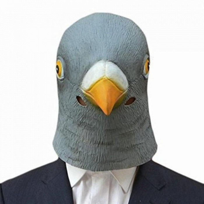 Buy Creepy Pigeon Head Mask Animal Mask 3D Latex Prop Animal Cosplay Costume Party Halloween Full Face Mask Pigeon Head Mask with Litecoins with Free Shipping on Gipsybee.com