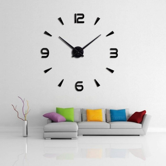 Buy Wall Clock Quartz Watch Reloj De Pared Modern Design Large Decorative Clocks Europe Acrylic Stickers Living Room Clock 47inch/Gold with Litecoins with Free Shipping on Gipsybee.com