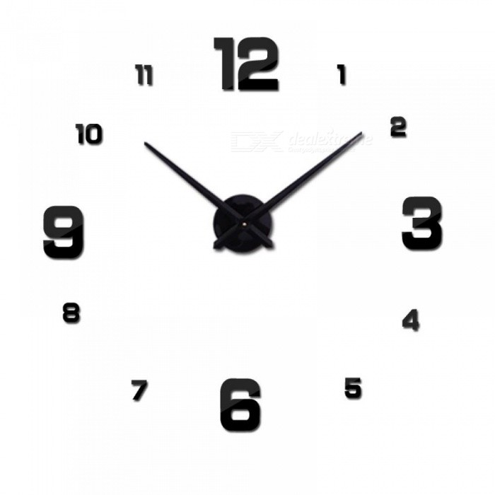 Buy Wall Clock Clocks Watch Stickers DIY 3D Acrylic Mirror Home Decoration Quartz Balcony Courtyard Needle Europe 47inch/Gold with Litecoins with Free Shipping on Gipsybee.com