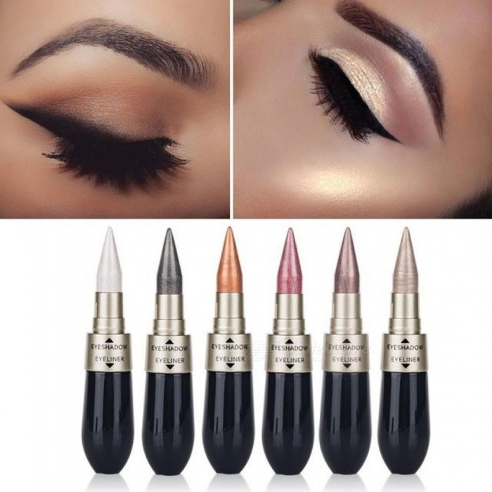 Buy Black Eyeliner Pen Makeup Cosmetics Waterproof Glitter Shimmer Eyeshadow Pigment Tint Liquid Eyeliner Pencil Beauty 6 with Litecoins with Free Shipping on Gipsybee.com