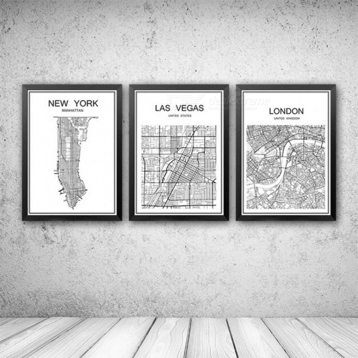 Buy 42x30cm World Famous City Map Abstract Poster Art Kraft Paper Cafe Bar Poster Retro Sketch Art Decor Painting Wall Sticker Vienna with Litecoins with Free Shipping on Gipsybee.com