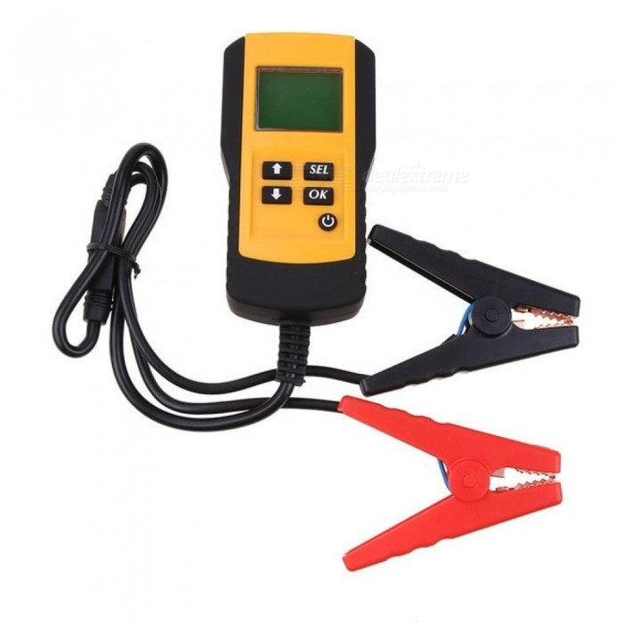 Buy 12V Digital Vehicle Car Auto Battery Tester Automotive Car Accumulator Battery Condition Analyzer Voltage OHM CCA Test Detector Yellow with Litecoins with Free Shipping on Gipsybee.com