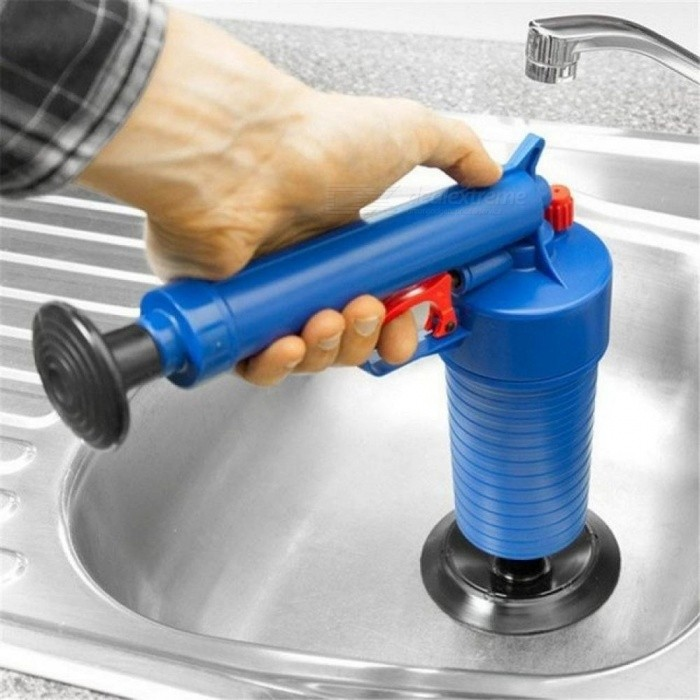 Buy Home High Pressure Air Drain Blaster Pump Plunger Sink Pipe Clog Remover Toilets Bathroom Kitchen Cleaner Kit 1 Piece with Litecoins with Free Shipping on Gipsybee.com