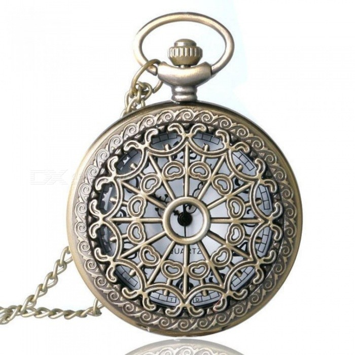 Buy Relogio De Bolso Bronze Antique Vintage Quartz Steampunk Pocket Watch Spider Web Hollow Women Men Pendant Necklace Chain Gifts Pocket Watch with Litecoins with Free Shipping on Gipsybee.com