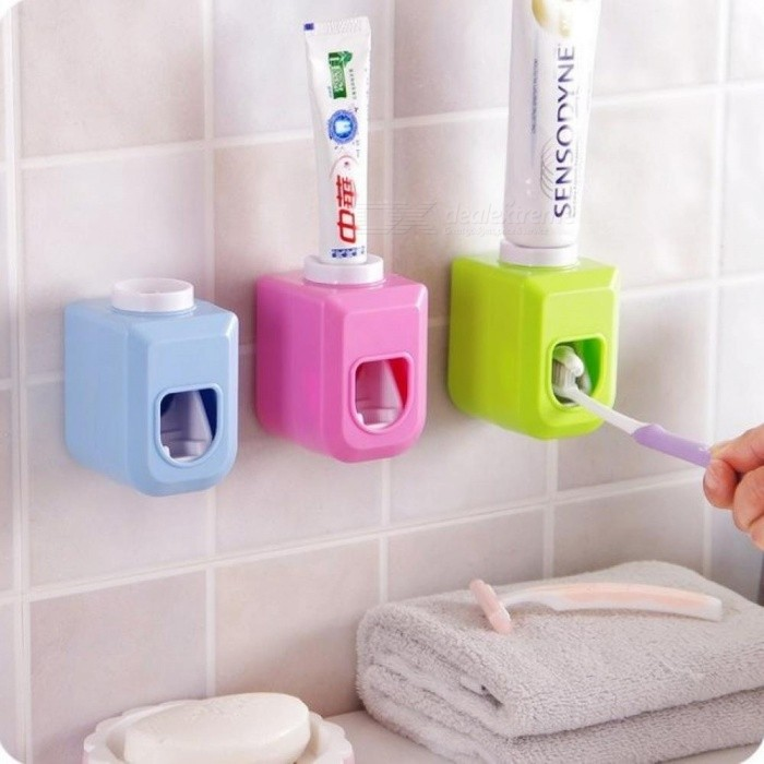 Touch Automatic Auto Squeezer, Hands-Free Squeeze Out Stick On Wall Toothpaste Dispenser