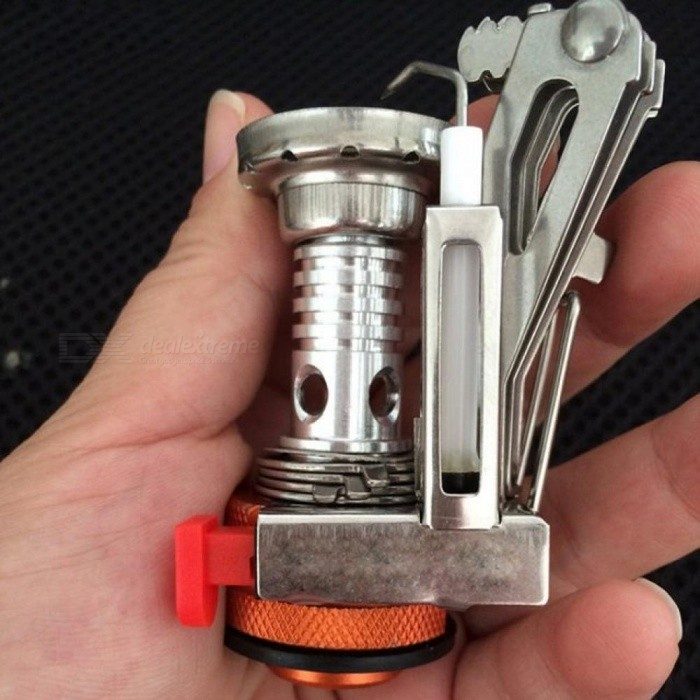 Ultra-Light Alloy Camping Equipment Stove Gas Burners Outdoor Cooker Outdoor Stove Mini Gas Stoves Miniature Portable Picnic 1 Piece