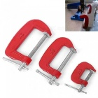 1/2/3 Inch G Type Woodworking Clamp Clamping Device Adjustable DIY Carpentry Gadgets Heavy Duty G Clamp 1 inch