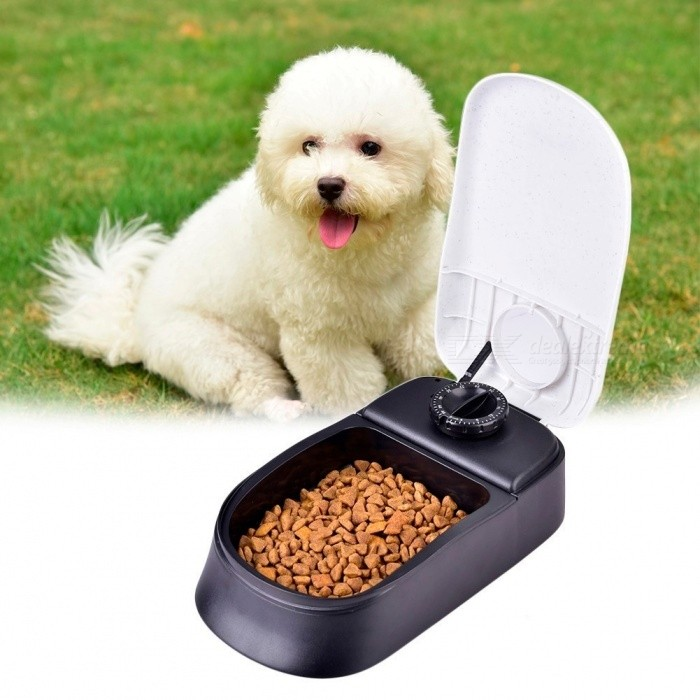 Pet-Dog-Timing-Automatic-Feeder-for-Cat-Dog-Pet-Dry-Food-Dispenser-Dish-Bowl-Dog-Cat-Feeder-Bowl-EasyConvenient-Automatic-Pet-FeederWhite