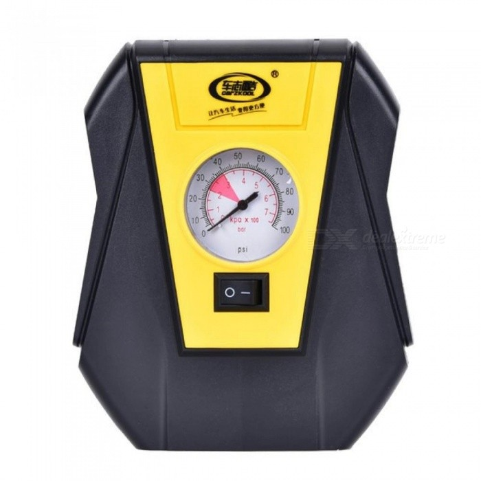 Portable-Electric-Car-Tire-Inflator-Pump-12V-Car-Air-Compressor-Pump-LED-Light-Inflatable-Pump-for-Outdoor-Emergency-Yellow2bBlack