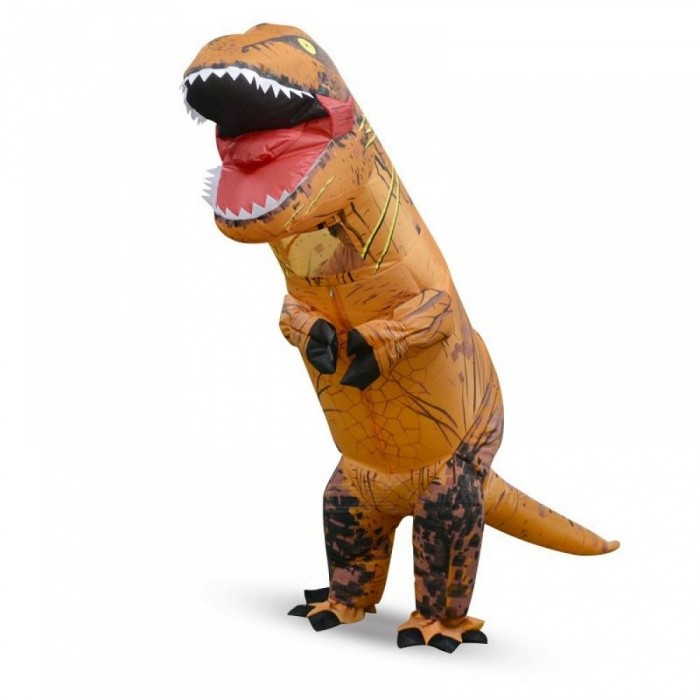 Inflatable Outdoor Toys 180cm/220cm Giant Adult Children Dinosaur Cosplay Suits Christmas Halloween Party Props 5 Colors Green/for height 120-150cm