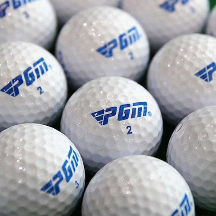 Buy Golf Balls Suitable For Beginners Practice Driving Range Training Double Layer Ball Rubber 2PCS Package White with Litecoins with Free Shipping on Gipsybee.com