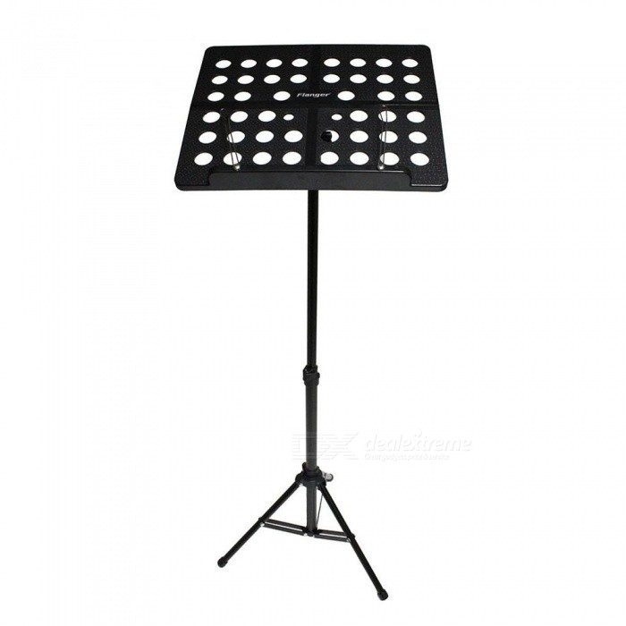 Colorful Sheet Folding Music Stand Aluminum Alloy Tripod Stand Holder With Soft Case with Carrying Bag White