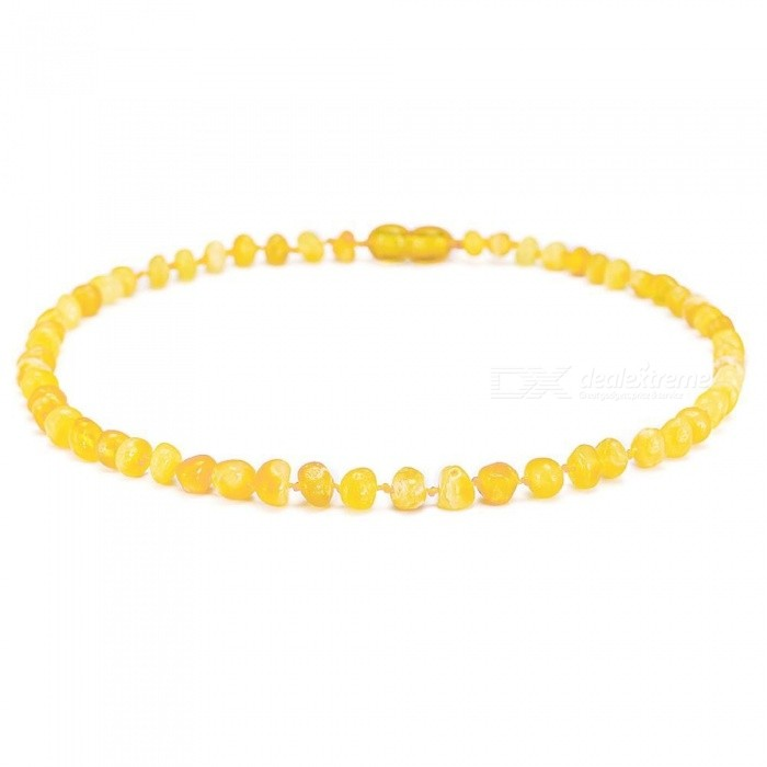 Baltic-Amber-Teething-Necklaces-And-Bracelets-With-Round-Charms-Multi-Size-With-Multi-Color-Options-Available-Standard-13in-33cmMulticolor
