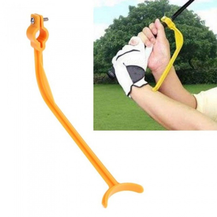Buy Practice Guide Golf Swing Trainer Beginner Alignment Golf Clubs Gesture Correct Wrist Training Aids Tools Golf Accessories Yellow with Litecoins with Free Shipping on Gipsybee.com