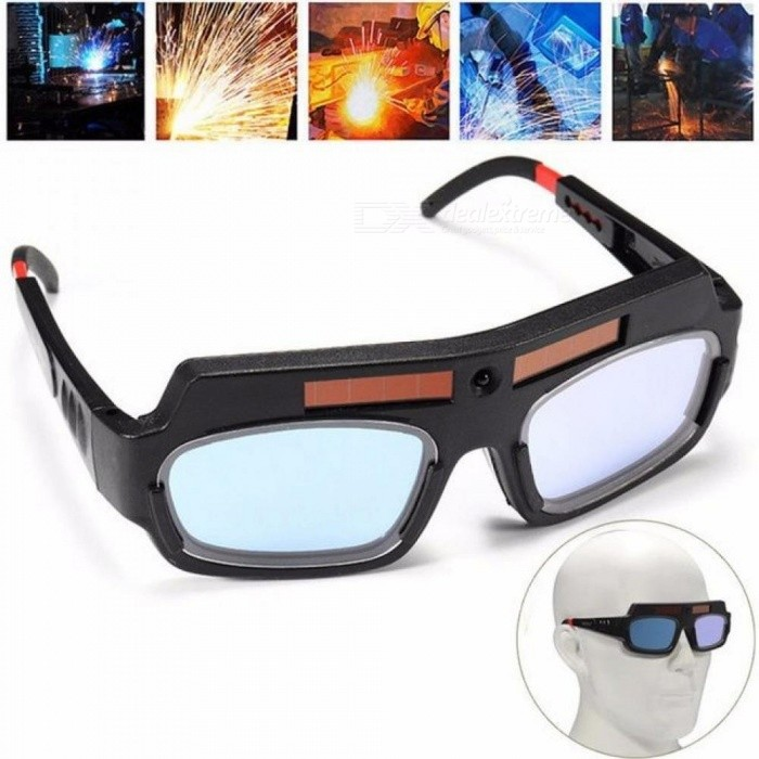 Buy Solar Powered Auto Darkening Welding Mask Helmet Goggle Welder Glasses Arc PC Lens Great Goggles For Welding Protection Black with Litecoins with Free Shipping on Gipsybee.com