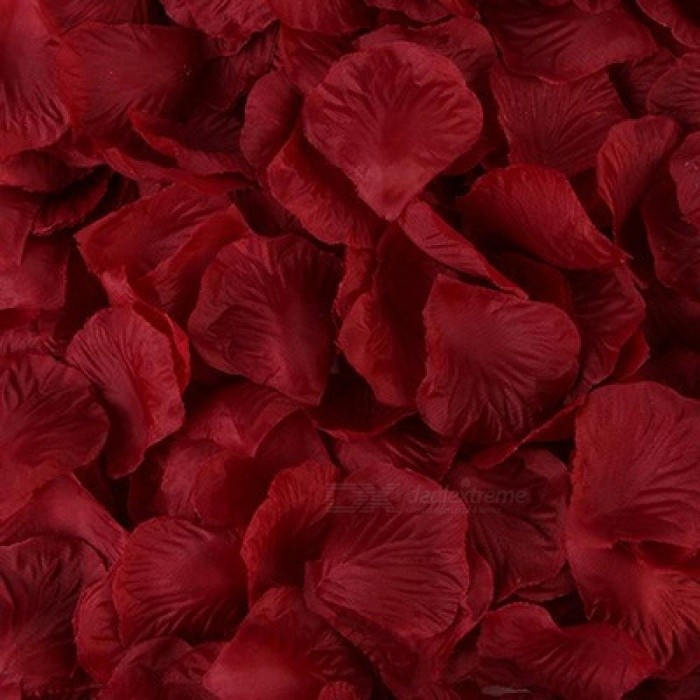 Other Home Decor 100 Rose Petals Wedding Decoration Artificial