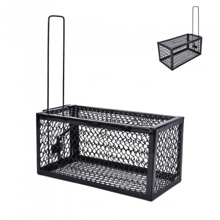 Rat-Cage-Mice-Rodent-Animal-Control-Catch-Bait-Hamster-Mouse-Trap-Humane-Live-Home-High-Quality-Rat-Killer-Cage-1PCS-Black