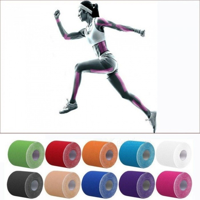 5CM x 5M Volleyball Muscle Bandage Sports Kinesiology Tape Roll Cotton Elastic Adhesive Strain Injury kneeling Bandage