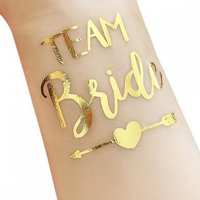 Buy Bride Team Bridesmaid Team Temporary Tattoo Bachelorette Party Sticker Decoration Mariage Bride To Be Bridal Party Supplies 10PC Gold with Litecoins with Free Shipping on Gipsybee.com