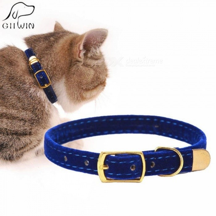 Cat Collar for Small Dogs Puppies Flocking Cat Puppies Collar Pet Supplies Product Adjustable for Kitten Pet Cats Collars S 1.0x30cm