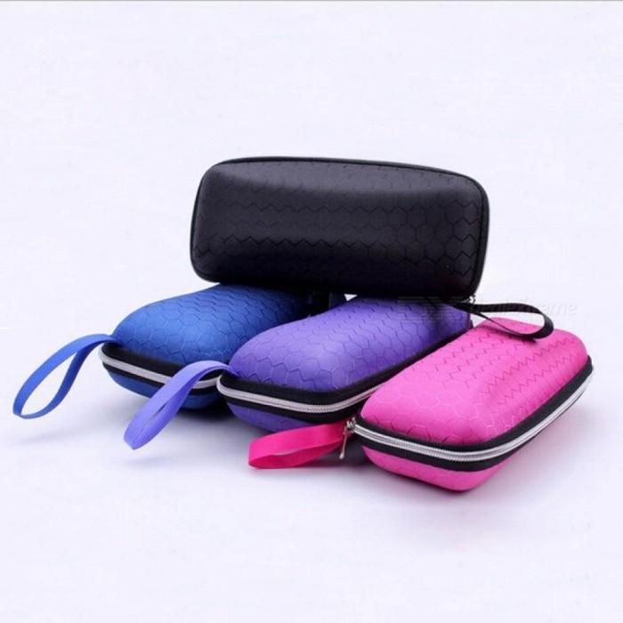 Buy Eyewear Cases Cover Sunglasses Case For Women Glasses Box With Lanyard Zipper Eyeglass Cases For Mens Black with Litecoins with Free Shipping on Gipsybee.com