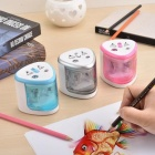 Electric-Pencil-Sharpener-Use-Battery-With-Two-Holes-Electric-Pencil-Sharpener-For-6-8mm-And-9-12mm-Pencils-Silvery