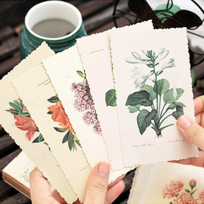 Buy 30 pcs/lot Vintage Herbage Plant Postcard Greeting Card Christmas Card Birthday Card Gift Cards Single-Page Type 30 pcs/lot with Litecoins with Free Shipping on Gipsybee.com