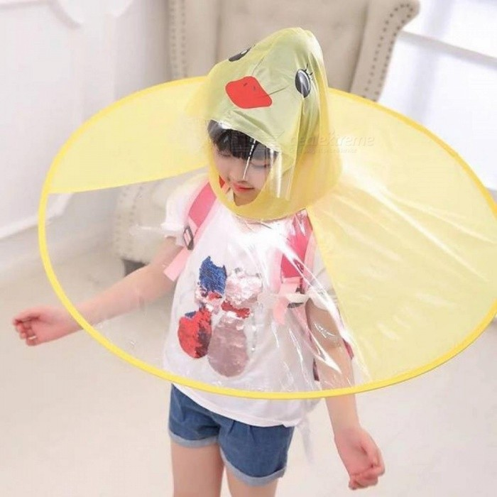 Buy Yellow Duck Raincoat Creative UFO Children's Rain cover Waterproof Raincoat For Kids Umbrella Cover Outdoor Play Supplies Yellow with Litecoins with Free Shipping on Gipsybee.com