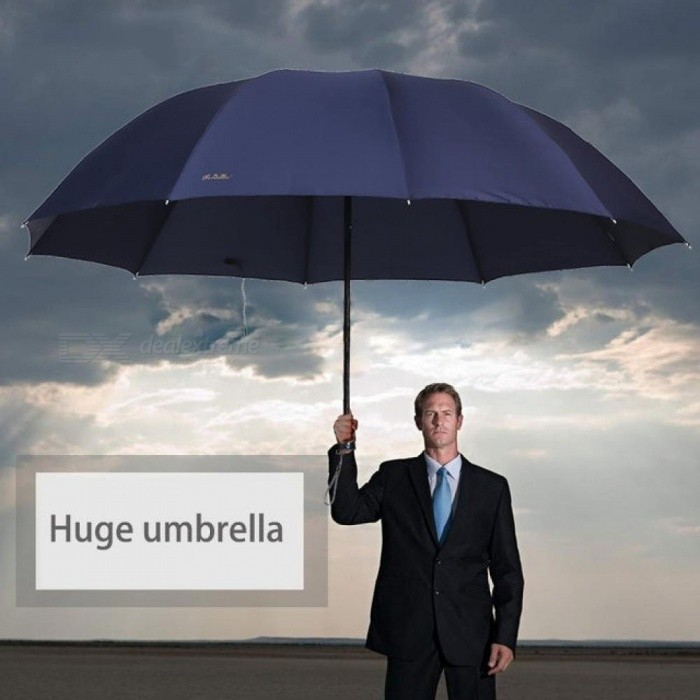 Buy 130CM Big Top Quality Umbrella Men Rain Woman Windproof Large Umbrellas Male Women Sun 3 Folding Big Umbrella Outdoor Parapluie Red with Litecoins with Free Shipping on Gipsybee.com