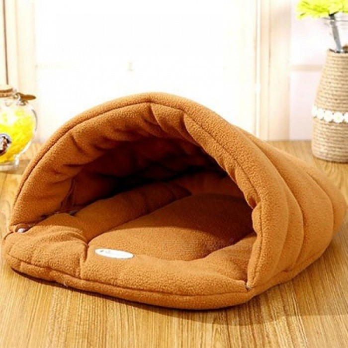 Pet-Cat-Bed-Small-Dog-Puppy-Bed-Kennel-Sofa-Polar-Fleece-Material-Bed-Pet-Mat-Cat-House-Cat-Sleeping-Bag-Warm-Nest-Orange