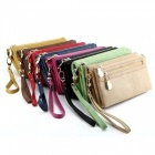 High-Capacity-Fashion-Women-Wallets-Long-Dull-Polish-PU-Leather-Wallet-Female-Double-Zipper-Clutch-Coin-Purse-Ladies-Wristlet-Red