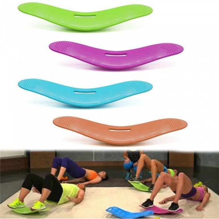 Twisting Fitness Balance Board Simple Core Workout for Abdominal Muscles and Legs Balance Fitness Yoga Board Green