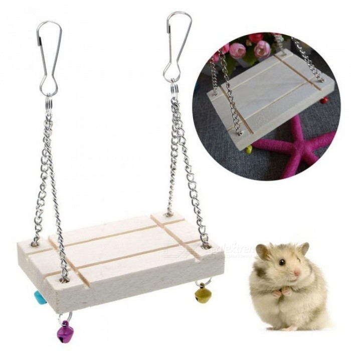 Hamster Toys Seesaw Rat Swing Mouse Harness Parrot Wooden Hamster Swing Funny Sport Equipment for Pet Hamster Toys Seesaw for sale in Bitcoin, Litecoin, Ethereum, Bitcoin Cash with the best price and Free Shipping on Gipsybee.com
