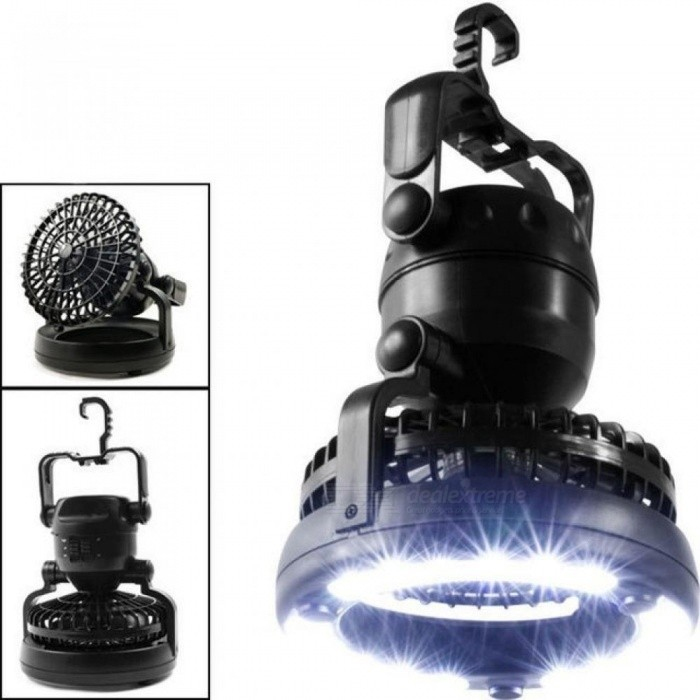 Portable-LED-Camping-Lantern-with-Ceiling-Fan-2-In-1-Combo-18-Super-Bright-LED-Light-With-Black-Color-Black