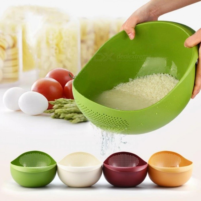 Large-Size-Environmentally-Plastic-Wash-Rice-Basket-Fruit-Vegetables-Drain-Basket-Pots-Creative-Kitchen-Accessories-Green