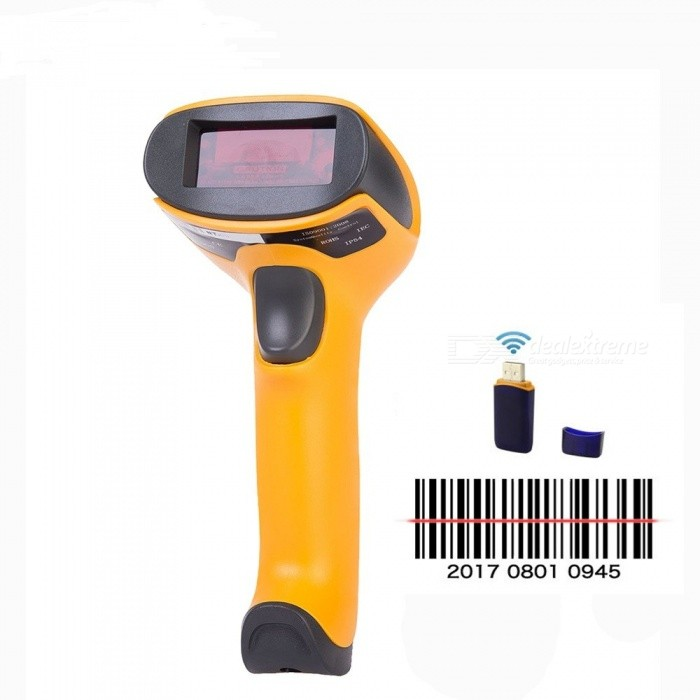 Wireless Laser Barcode Scanner Portable High Sensitive Bar Code Reader/Scaner for POS and Inventory USB