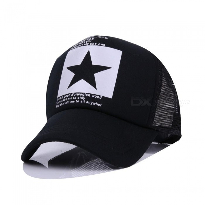 f2d65a7a701 ... Fashion Pointed Star Brand Baseball Cap Outdoor Baseball Hat Breathable  Men amp Women Summer Mesh Cap ...
